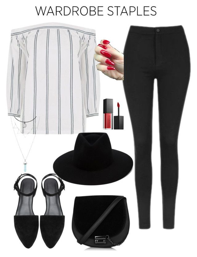 """""""Lazy Leggings Look"""" by xcelestex ❤ liked on Polyvore featuring Topshop, Warehouse, rag & bone, Smashbox, Leggings and WardrobeStaples"""