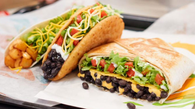 Taco Bell Makes Ordering Vegetarian A Breeze With New Veggie Mode Vegetarian Burrito Chicken Soft Tacos Vegetarian