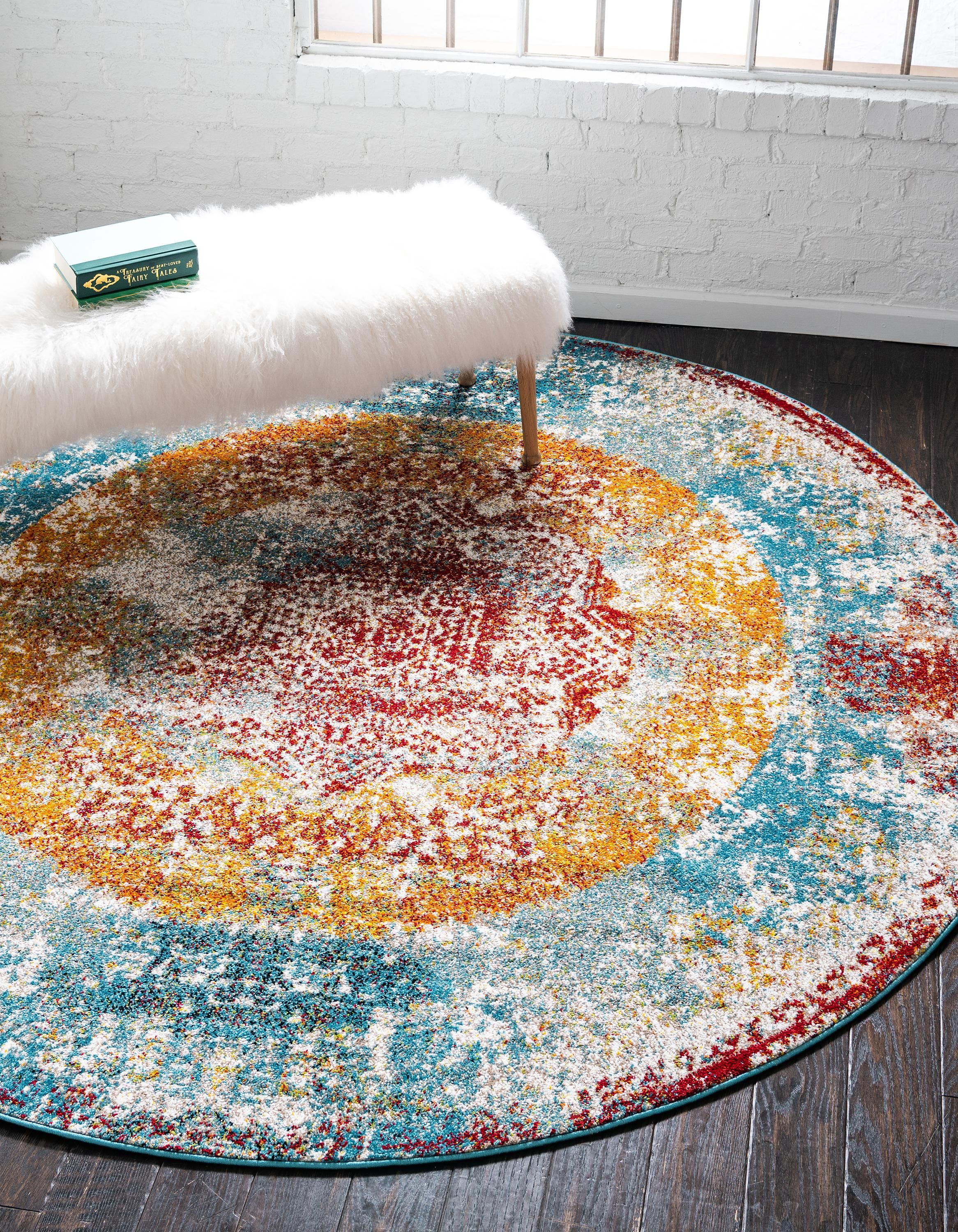Multicolor 8 X 8 Brighella Round Rug Rugs Com With Images