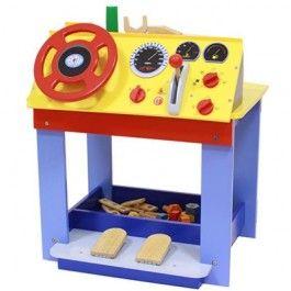 Mentarie Werkbank Auto Dashboard Werkbank En Auto Dashboard In Een Houten Speelgoed Speelgoed Houten