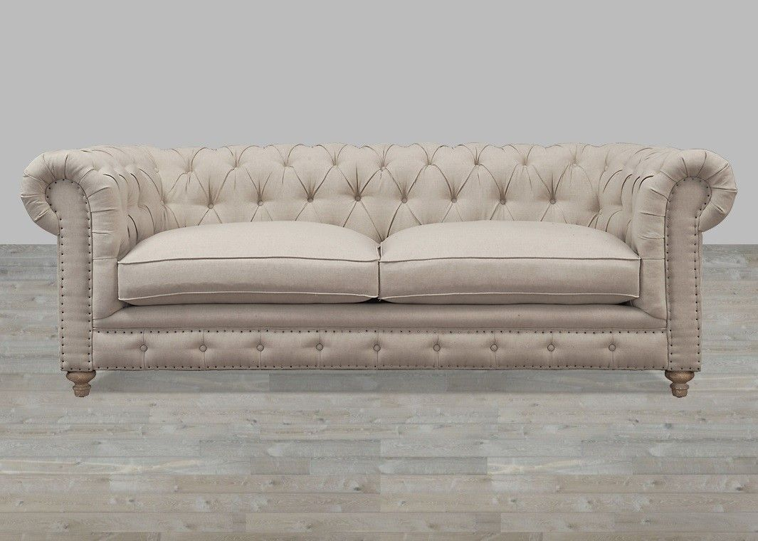 cool Tufted Linen Sofa Lovely Tufted