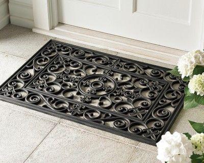 Fleur De Lys Rubber Doormats And Stair Treads Door Mat Outdoor Door Mat Entrance Door Mats Fleur de lis door mats