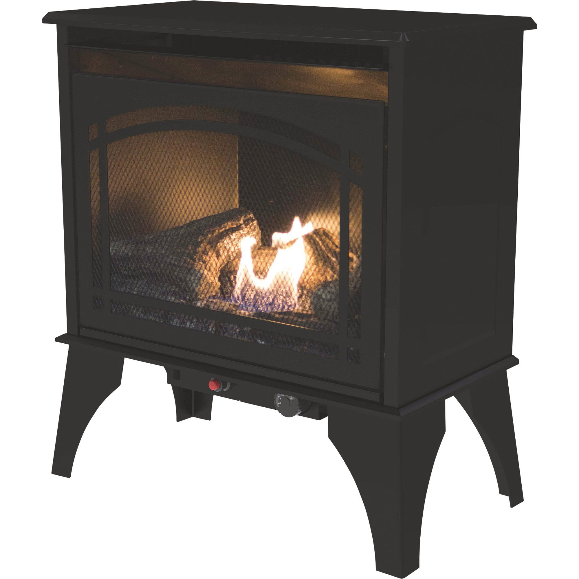 pleasant hearth vent free dual fuel stove 20 000 btu model vfs2