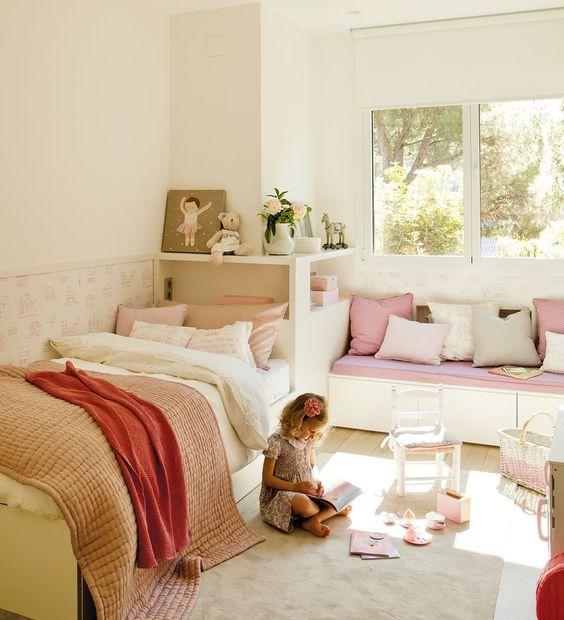 Dormitorios infantiles compartidos entre hermanos   Ideas dormitorio ...