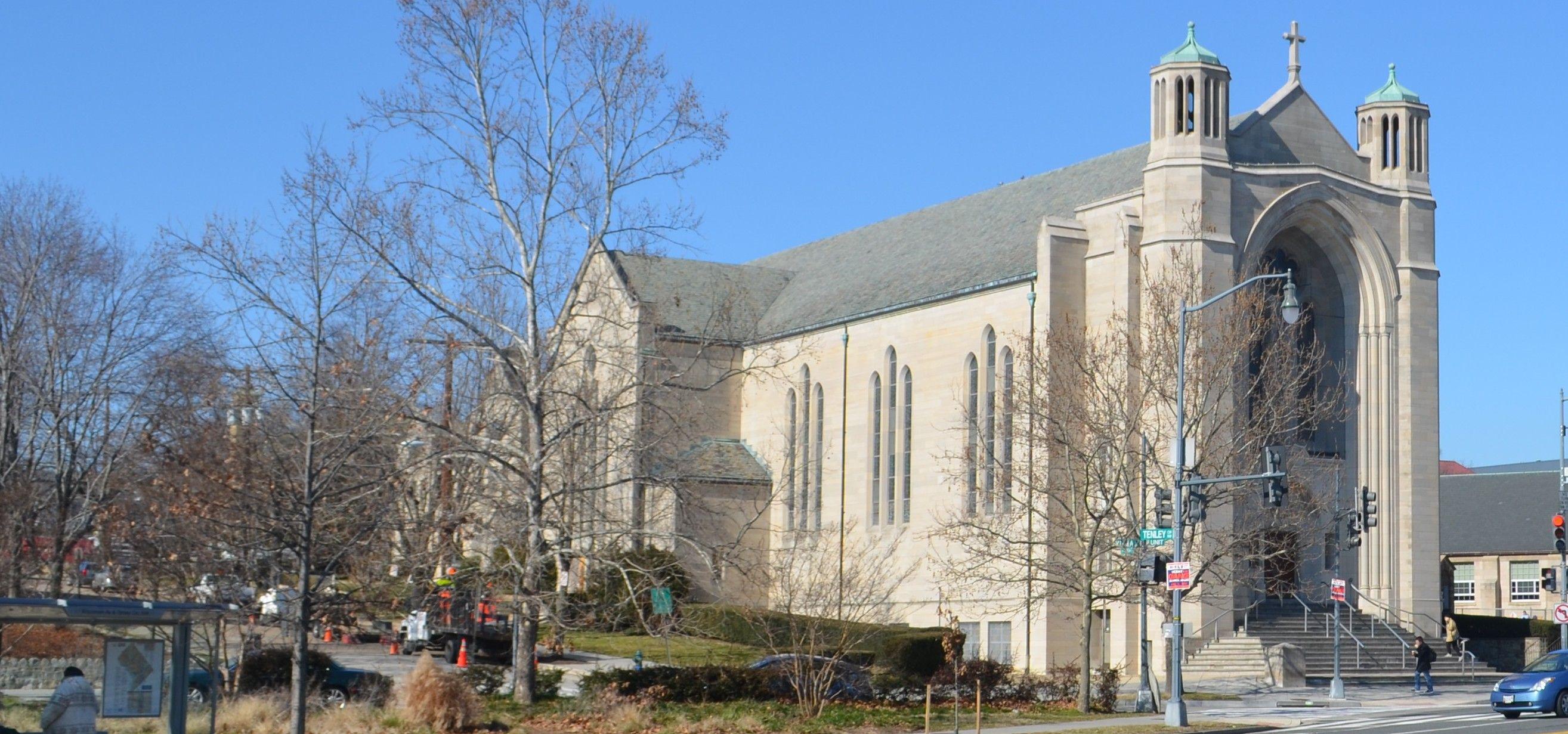 Church street view roman catholic church catholic
