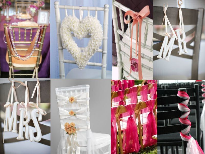 Wedding Chair Decorations Simple Ideas   Chair Decor   Passionatelywedu0027s  Blog
