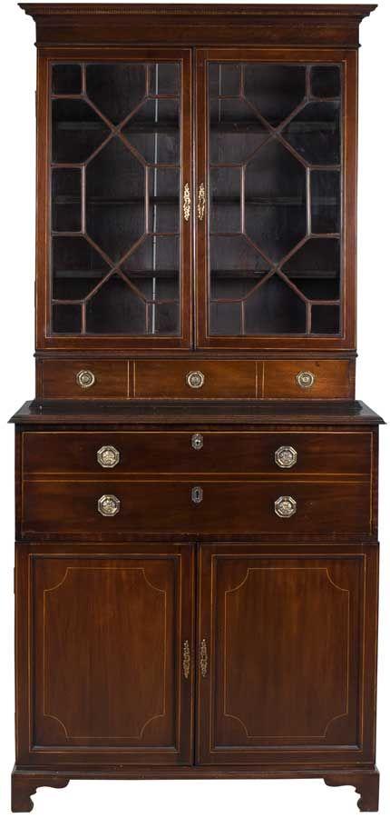 antique secretary bookcase awesome antiques cheap home decor rh pinterest com