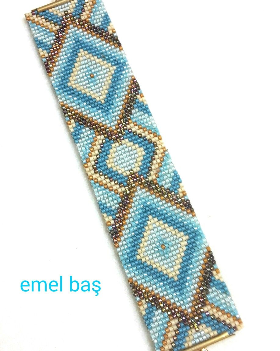 Loom beaded bracelet by Emel Bas from Turkey