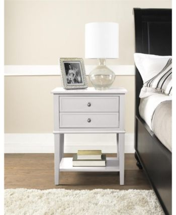 Ameriwood Home Cottage Hill Accent Table With 2 Drawers White