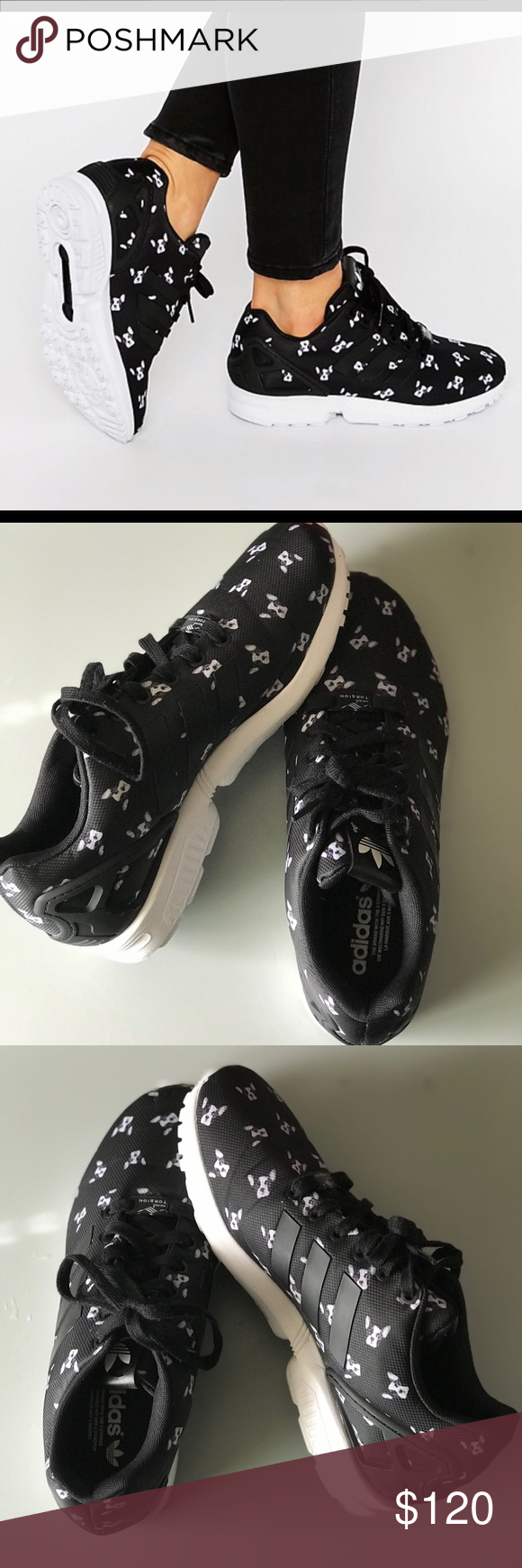 outlet store sale most popular best sell Adidas ZX Flux Torrison French Bulldog Sneakers Adidas ...