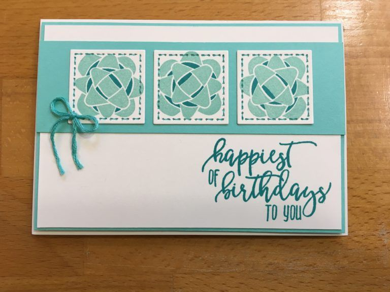 Picture Perfect Birthday Card – Stitched Birthday