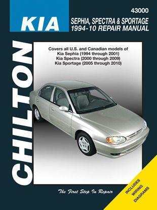 Chilton Repair Manual Kia Sephia 94 01 Spectra 00 09 Sportage 05 10 Chilton Repair Manuals Totaled Car Chilton Repair Manual