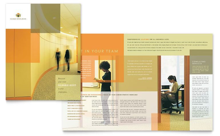 Hr Consulting Brochure Template Design Workdesignlayout