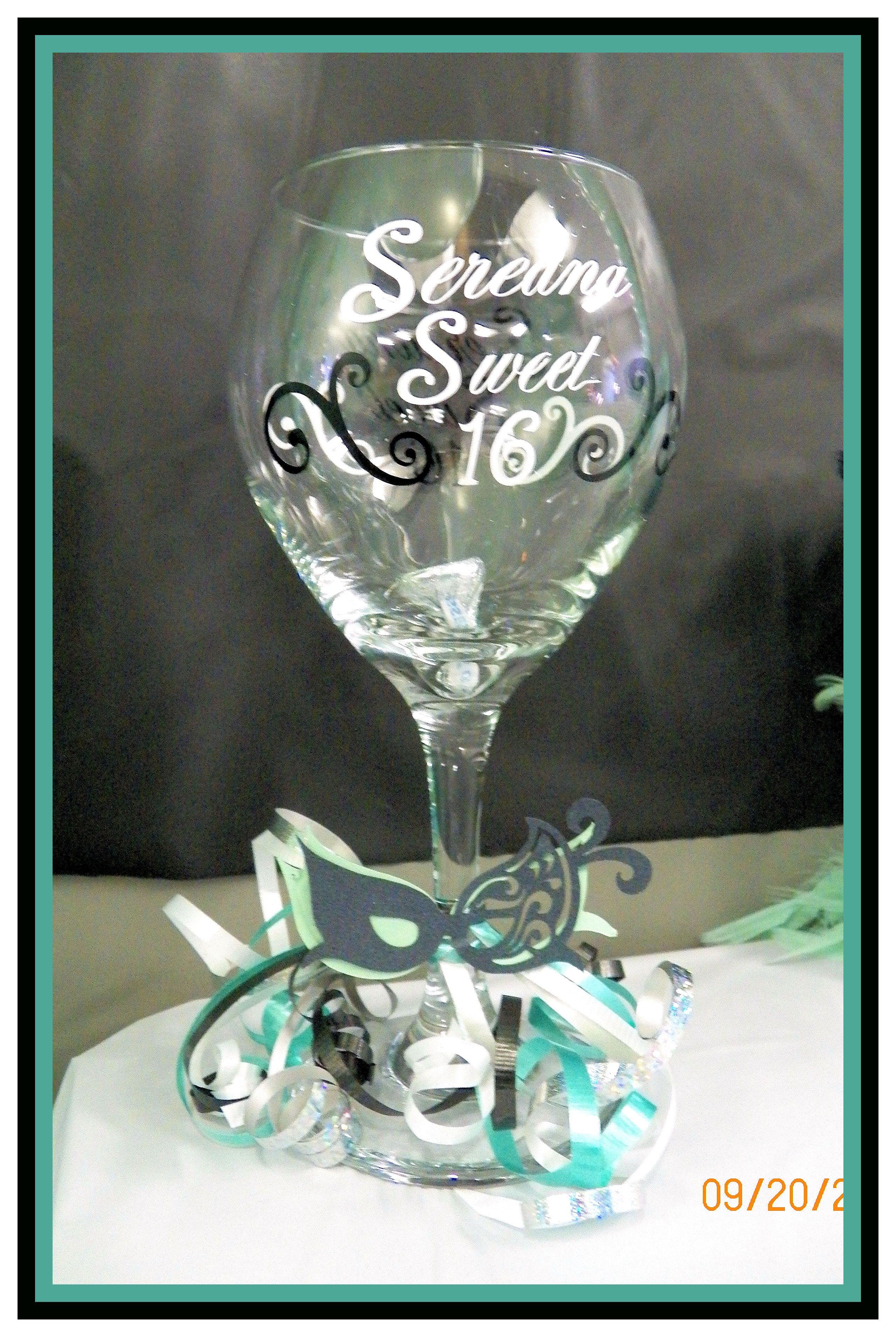 17c26cec138 Sweet sixteen wine glass