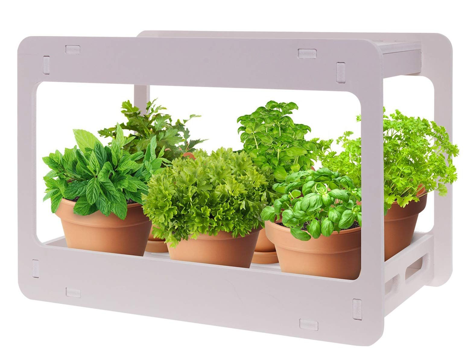 Extra Wide Led Indoor Herb Garden At Home Stackable Desk Planter