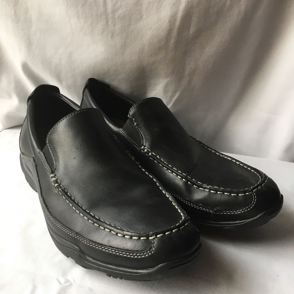 Cole Haan Nike Air Mens Black Leather Loafers Slip On Shoes Size 12 M  Casual #