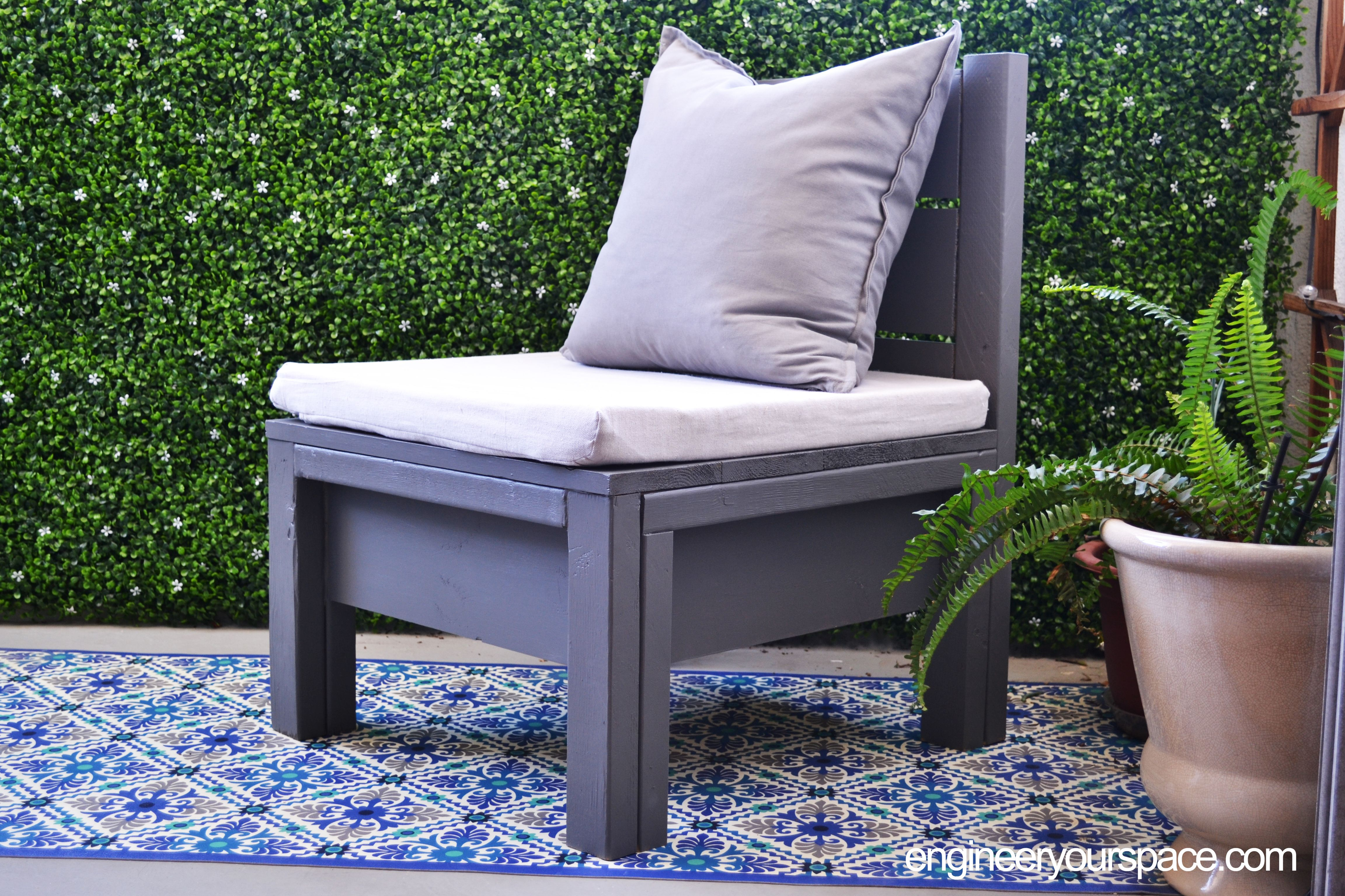 simple diy outdoor chair perfect for small balconies or patios by rh pinterest com