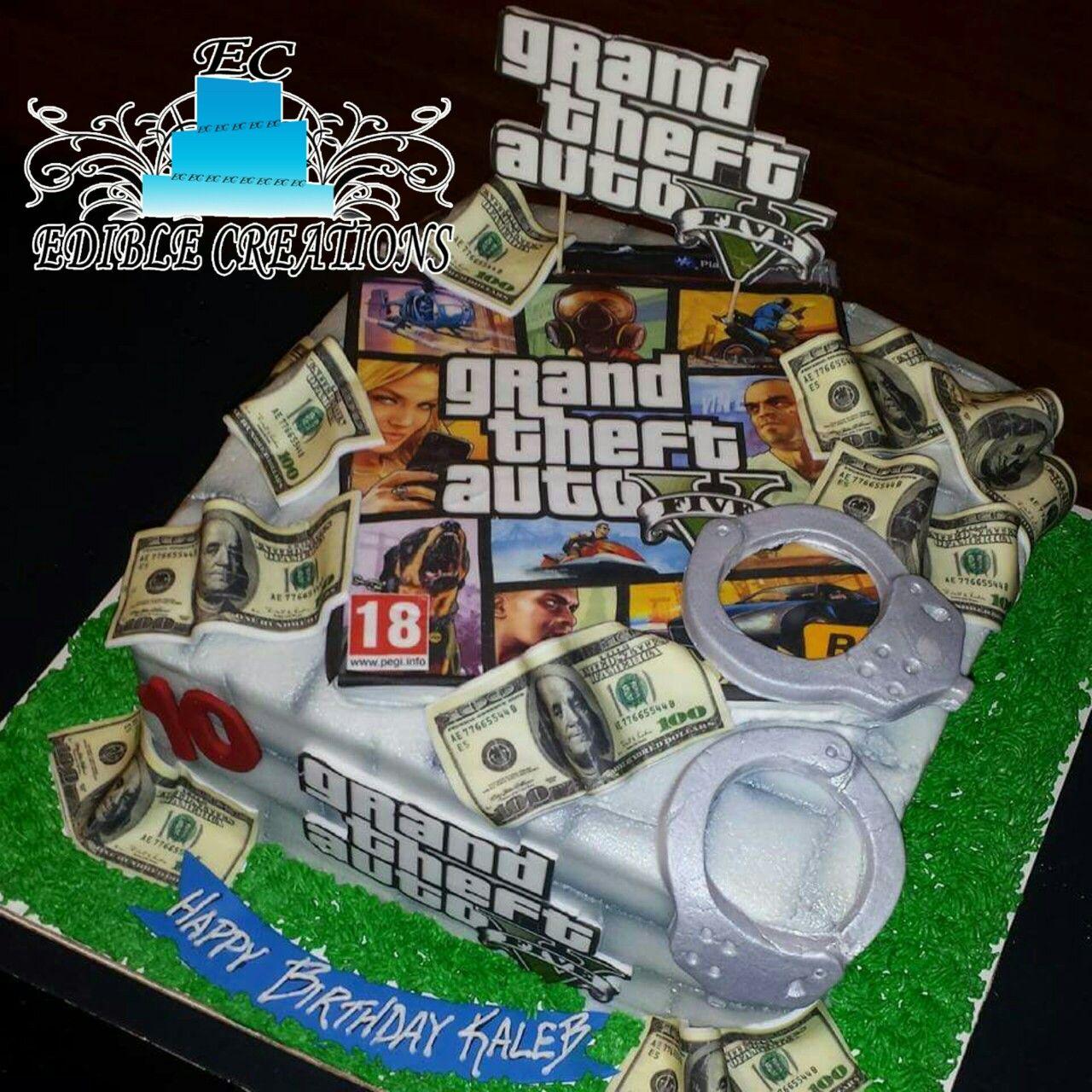 Grand Theft Auto Birthday Cake Xbox Party Birthday 5th