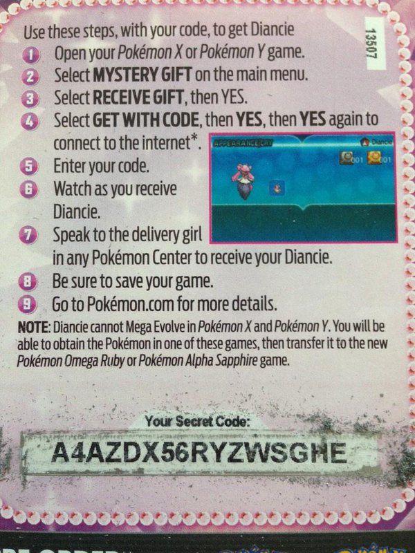 pokemon oras mystery gift code arceus america - Google Search ...