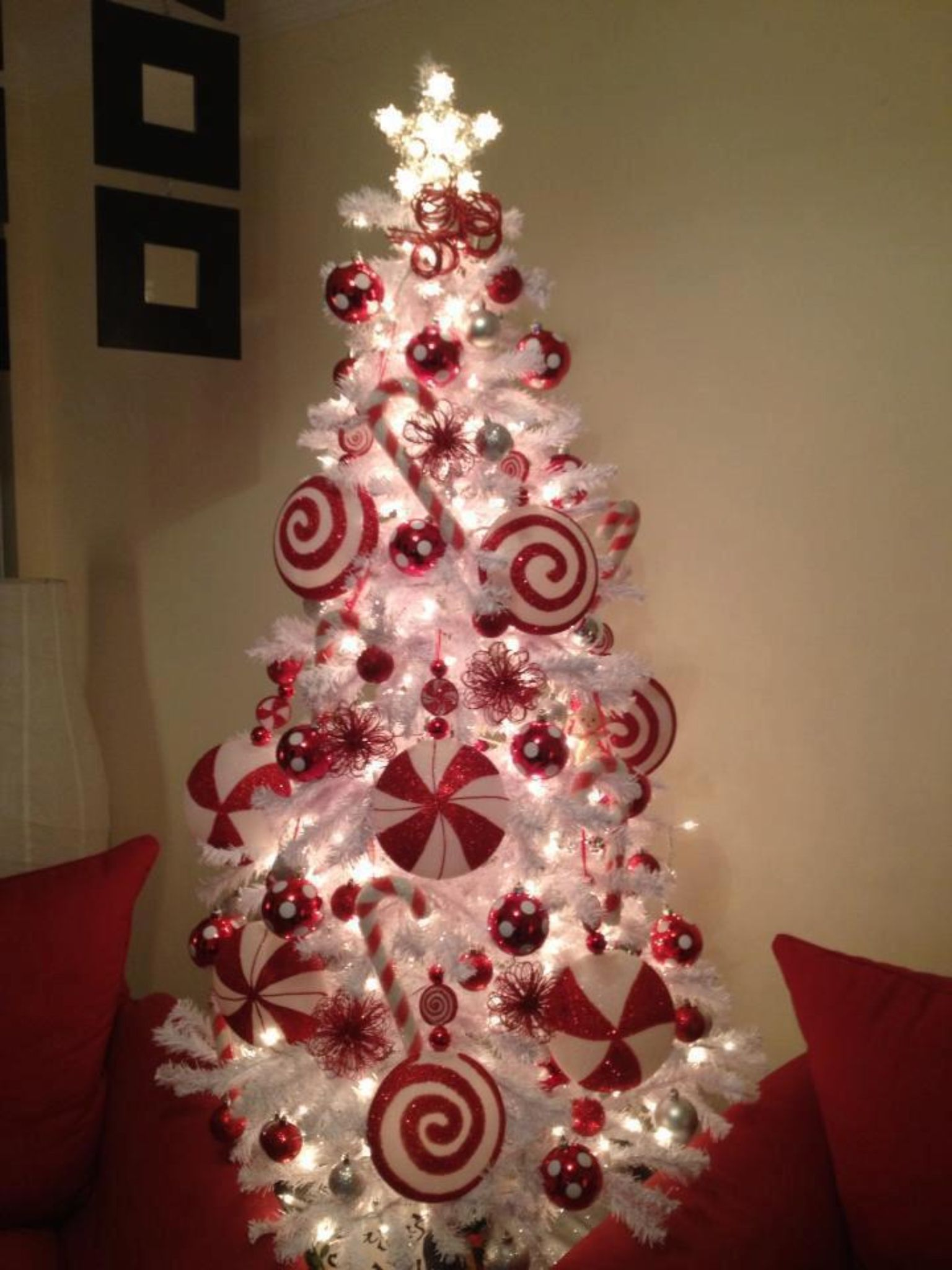 Candy cane theme Christmas Tree (With images) Christmas