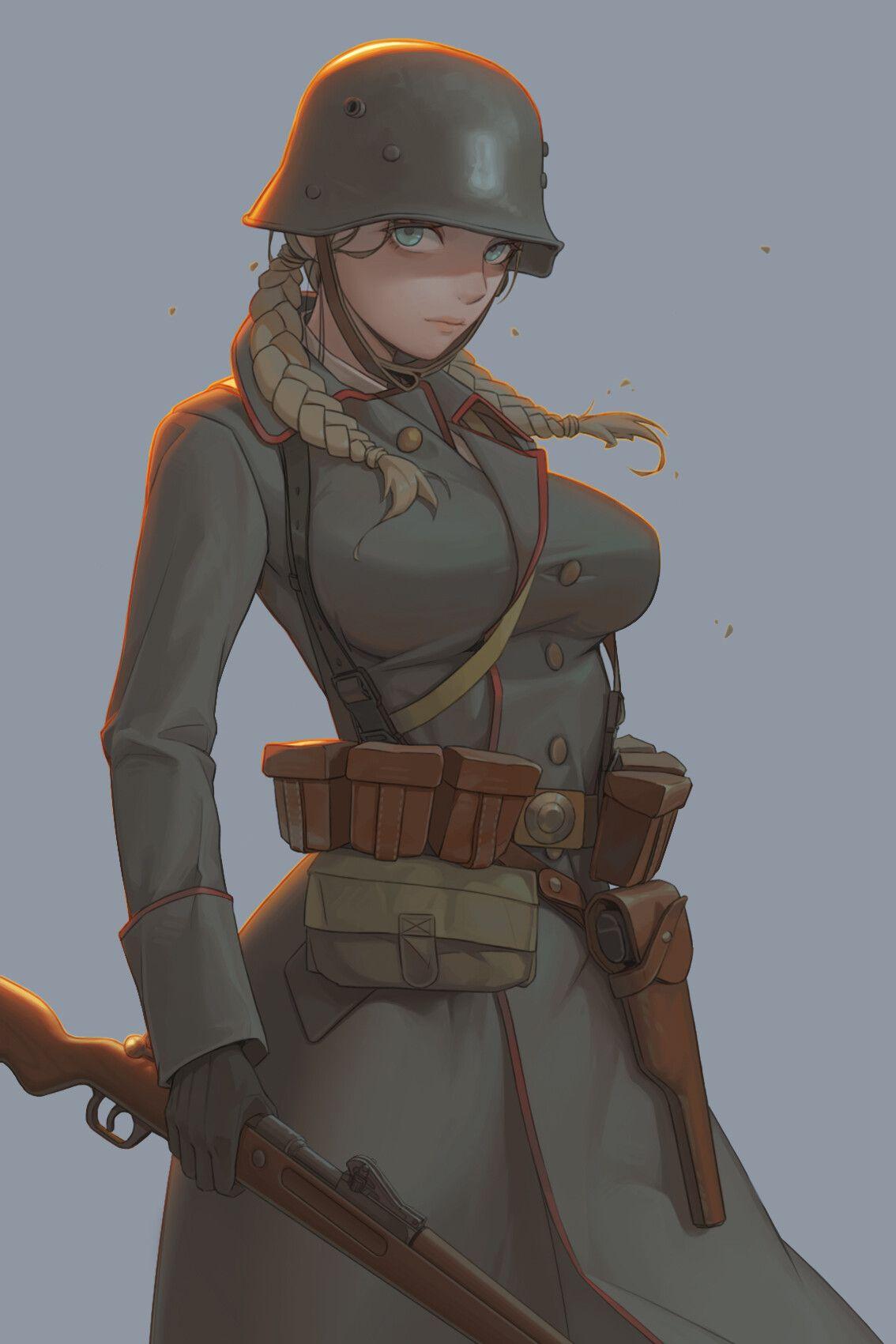 ArtStation 战地1同盟国德意志帝国侦察兵, BK 201 Anime military