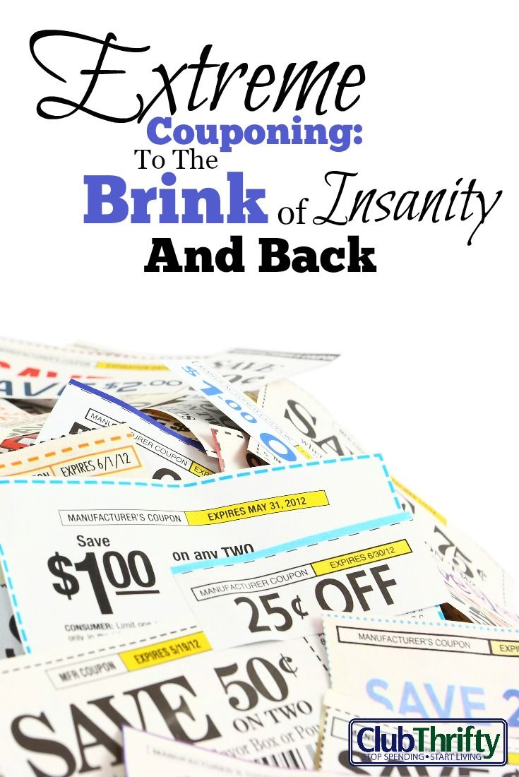 Extreme couponing to the brink of insanity and back