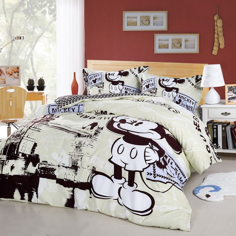Mickey Mouse Trip London Cream Colored Disney Bedding
