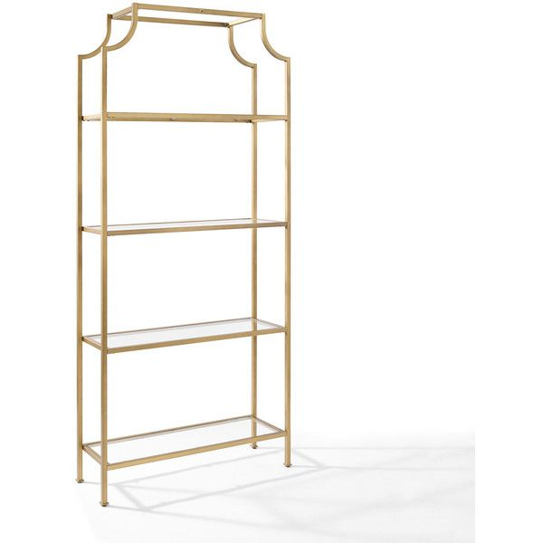 crosley furniture aimee gold glass etagere 399 liked on rh pinterest at
