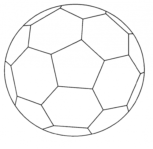 Part 2 Soccer Ball Football Coloring Pages Soccer