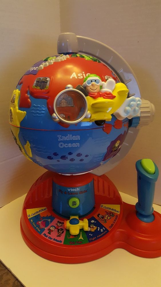 Vtech Fly and Learn Interactive Discovery Globe Geography ...
