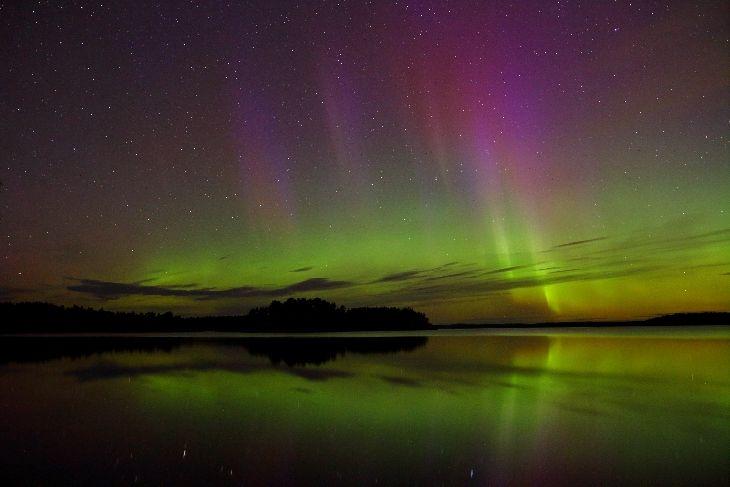 Bright Auroras Taken by Pirjo Koski on September 3, 2016 @ Uusikaupunki, Lepäinen, Western Finland