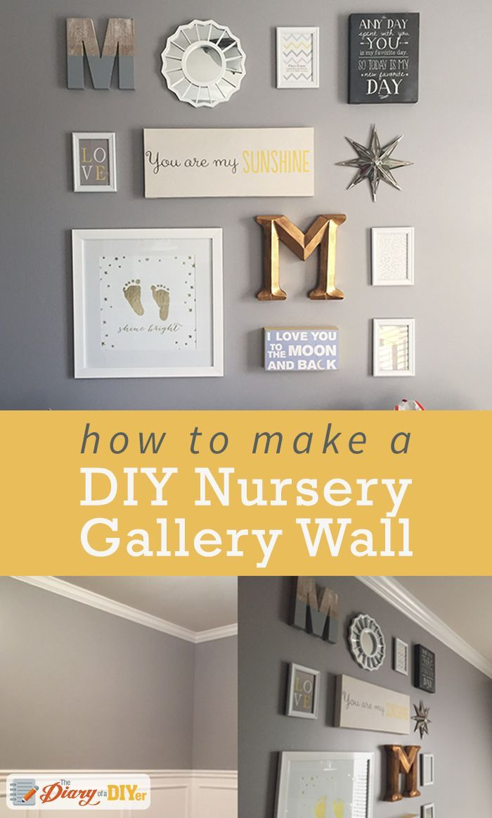 How to Create a Nursery Gallery Wall | Gallery wall, Children s and ...