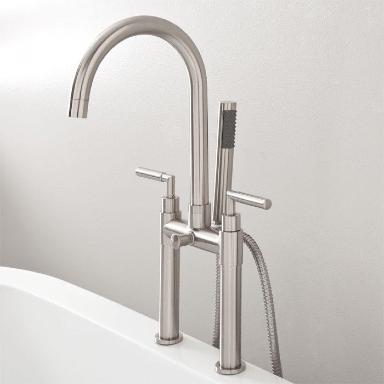 Desma Deck Mount Gooseneck Tub Faucet With Hand Shower Tub