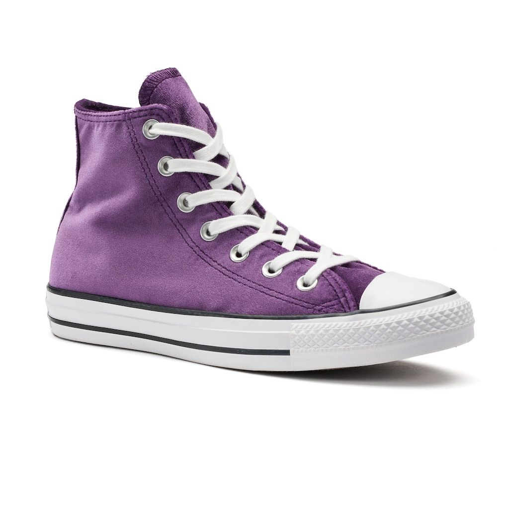 Women's Converse Chuck Taylor All Star Velvet High Top Sneakers, Size: 10,  Purple