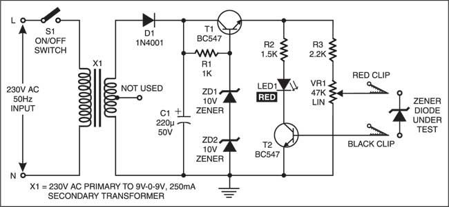Zener Diode Tester | Electronics | Electronic schematics ... on