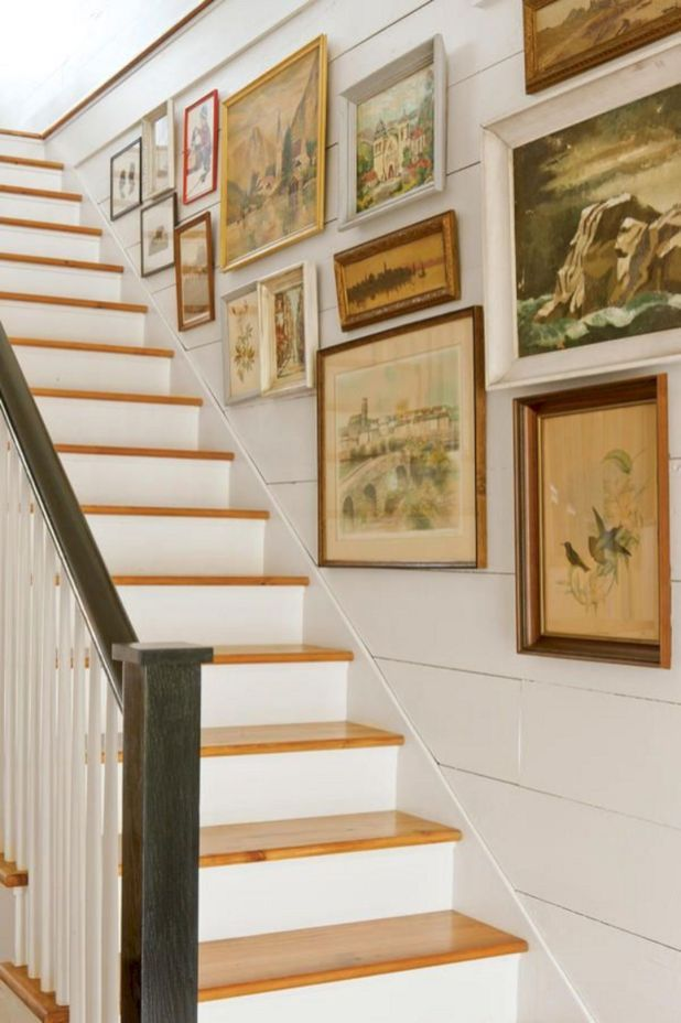 65 Awesome Arranging Pictures On A Stair