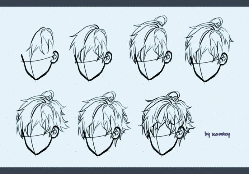 Drawing Male Hair By Kawacy Drawing Male Hair Drawing Hair Tutorial Guy Drawing