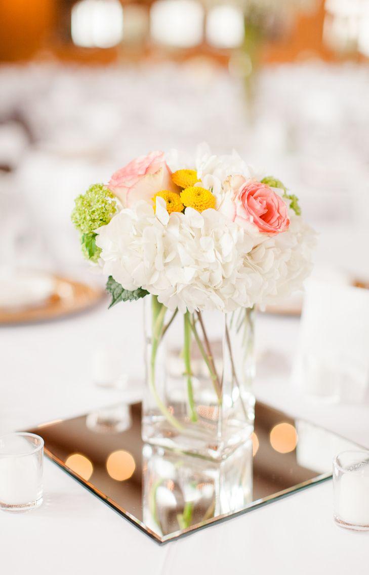 hydrangea rose and button mum centerpiece flowers pinterest rh pinterest es