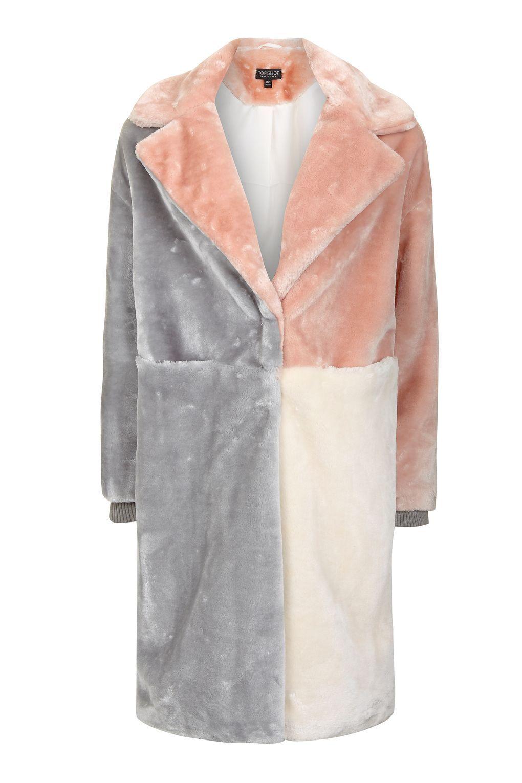 Patchwork Faux Fur Coat | Fur coat, Fur and Topshop