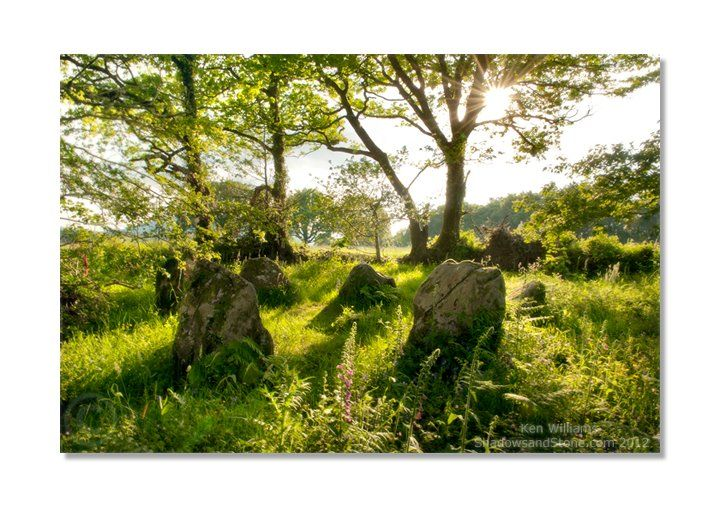 """Sunny afternoon at Lissyvigeen Stone Circle, near Killarney, Co. Kerry, Ireland. The circle is also known as 'The Seven Sisters'...  In the north of France we have """" The Seven Bonettes"""""""