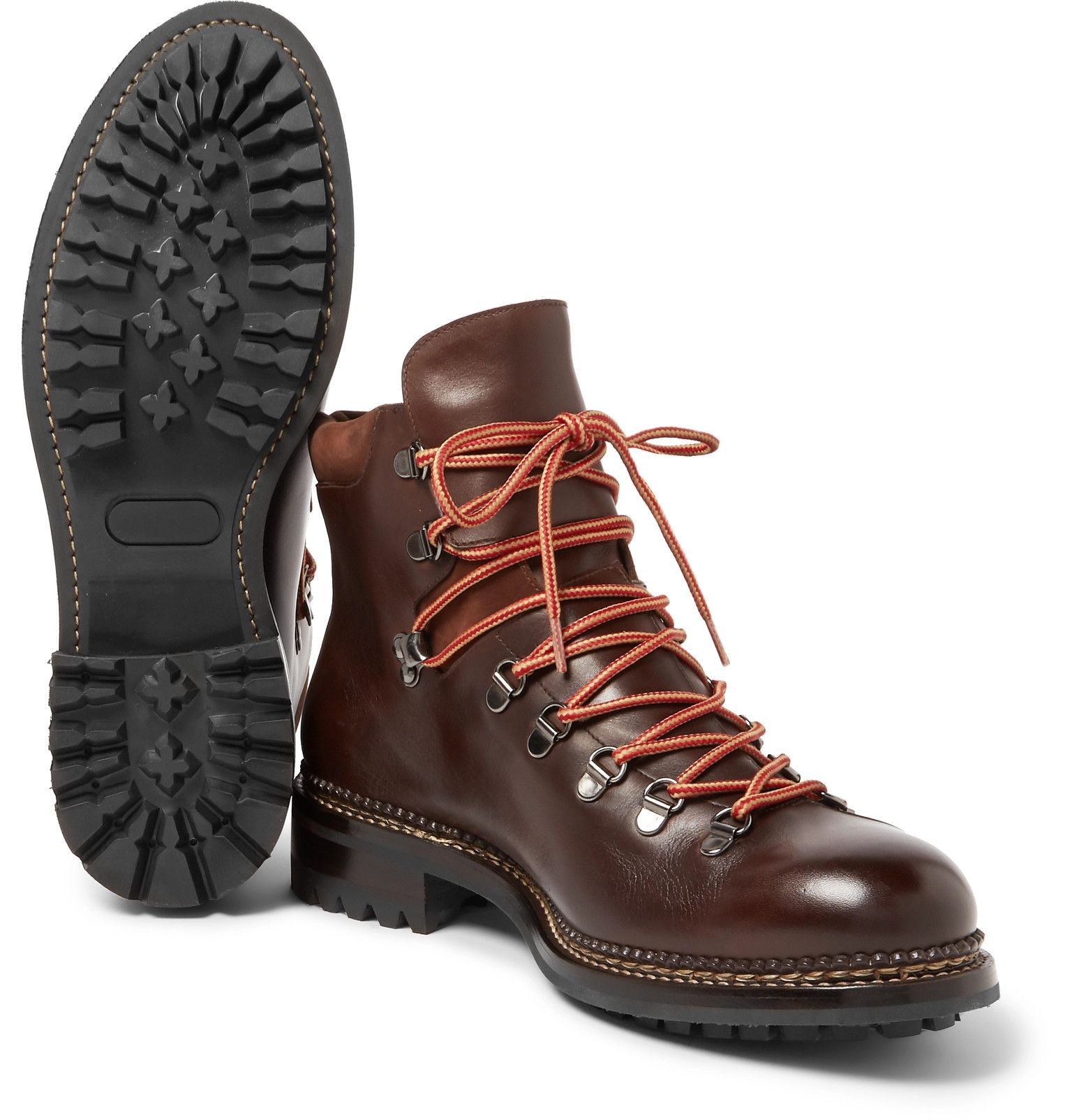 Polished Austin BootsBrown trimmed leather Suede O Keeffe OPkZiuXT