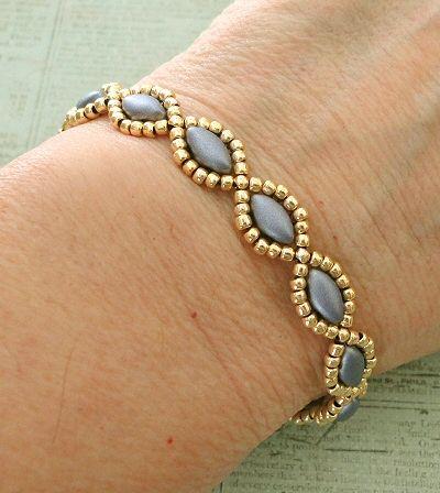 Photo of Free Beading Pattern – Simple IrisDuo Chain