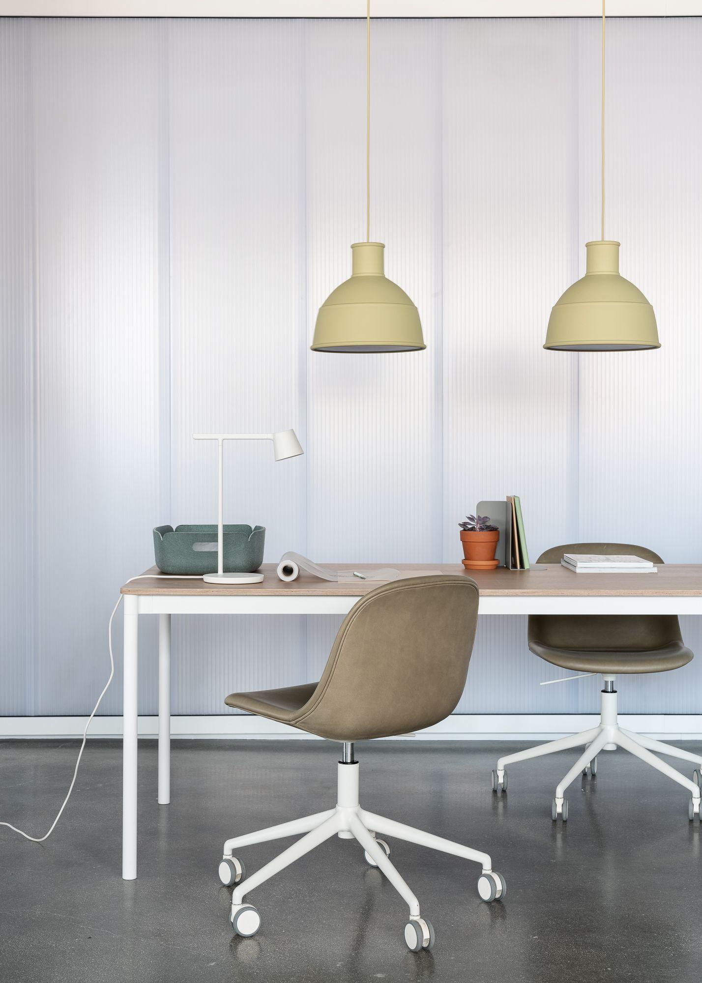 Modern And Minimal Scandinavian Office Interior Inspiration From Muuto The Fiber Side Chair Builds On Modern Office Interiors Interior Furniture Design Modern