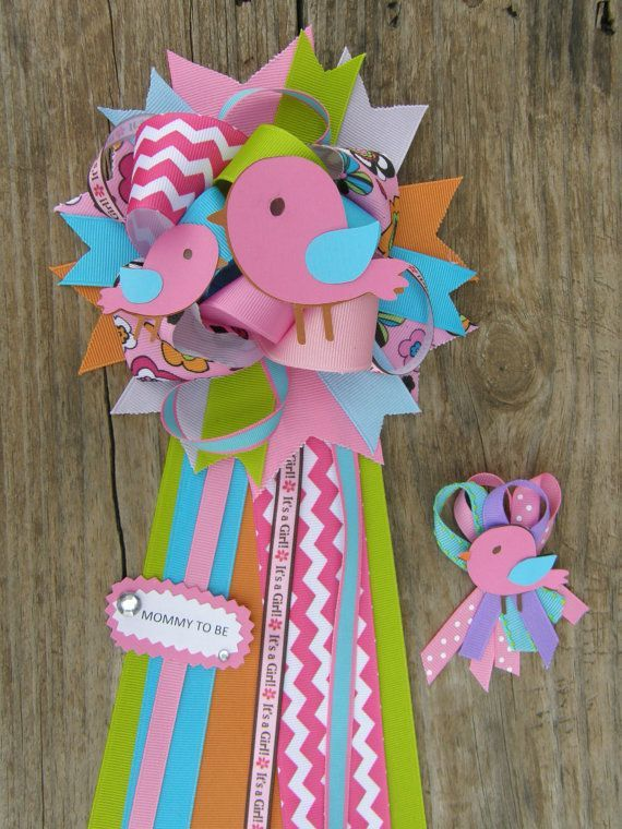Bird Baby Shower Mum Bird Baby Shower Theme Corsage Baby .