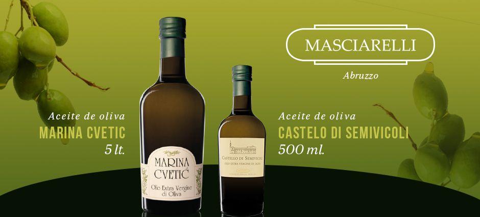 Aceite de oliva #Masciarelli de venta en http://vinopolis.mx/
