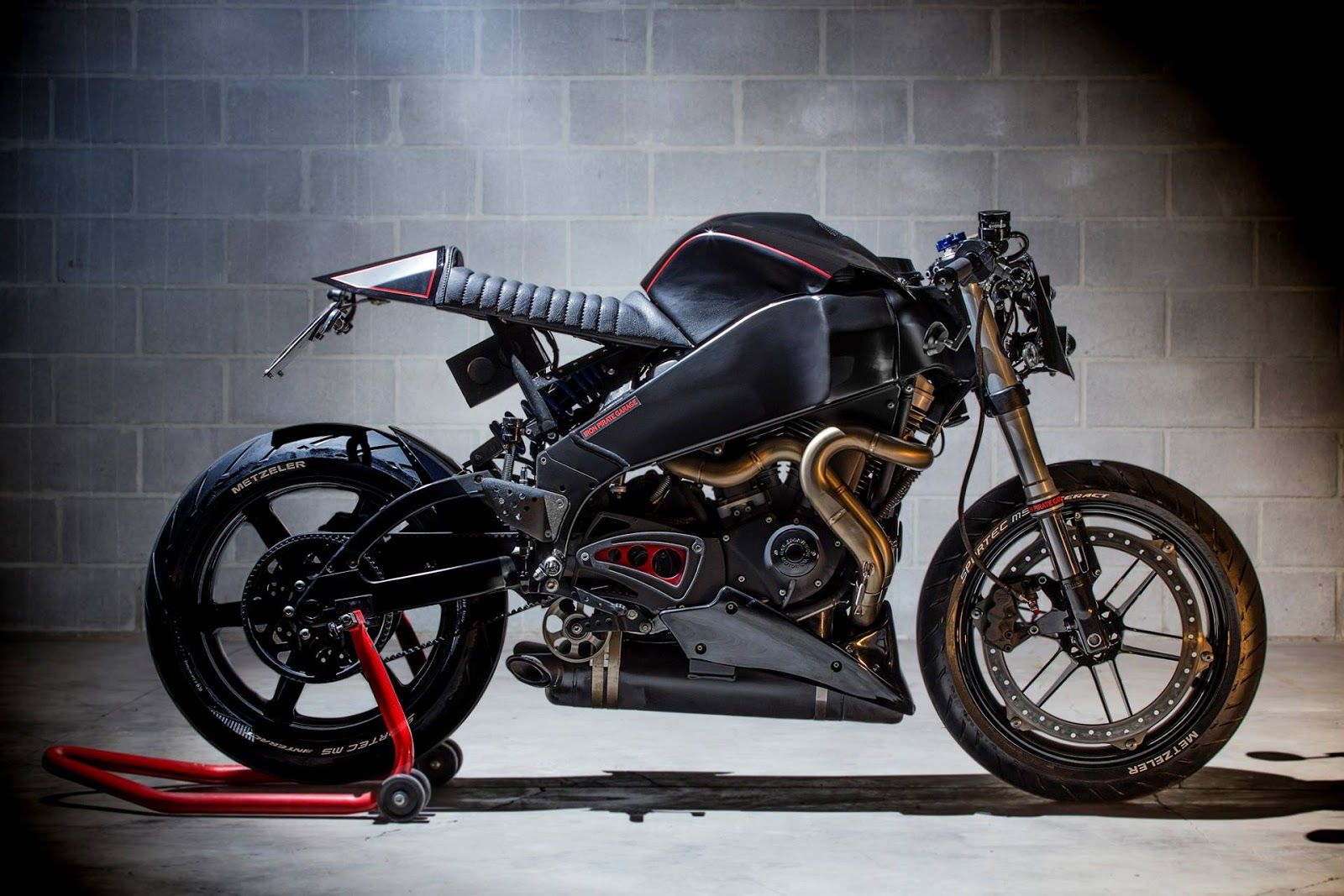 rocketgarage cafe racer: buell xb pirate | motorcycle emptiness