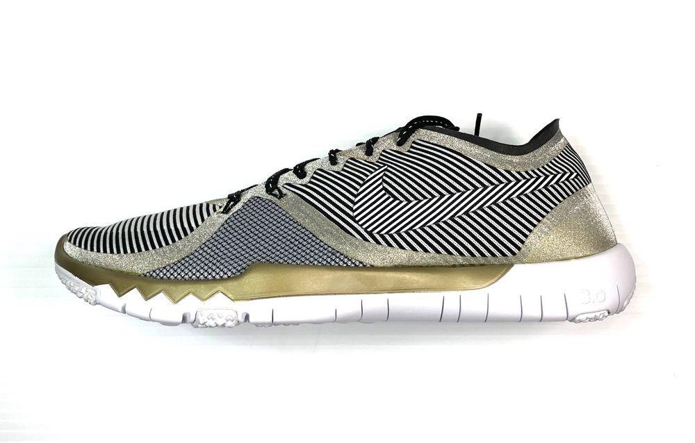 4048c1cbbcbf Nike Free Trainer 3.0 V4 Amp Shoes Size 9.5 Gold Super Bowl 50 749374-070   130
