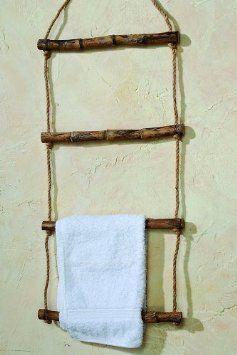 Handtuchhalter Leiter Handtuchstander Holz Hohe 100 Cm Wanddeko Amazon De Kuche Haushalt Diy Furniture Wood Creations Diy