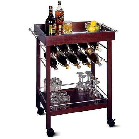 Home Rolling bar cart, Wine cart, Wine rack storage