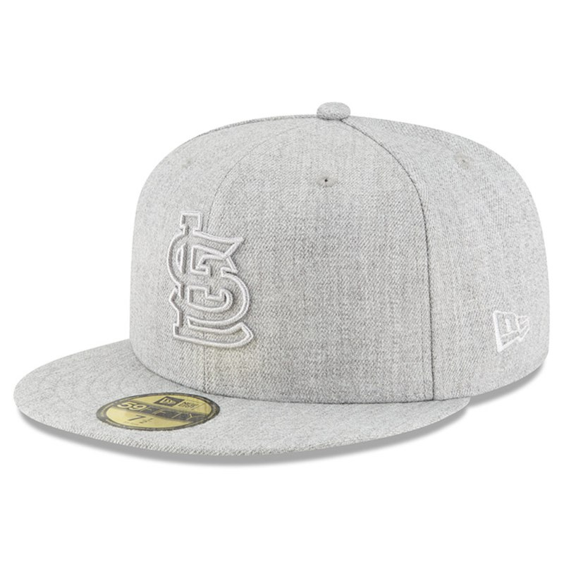 ea1858df4ca St. Louis Cardinals New Era Twisted Frame 59FIFTY Fitted Hat - Gray ...